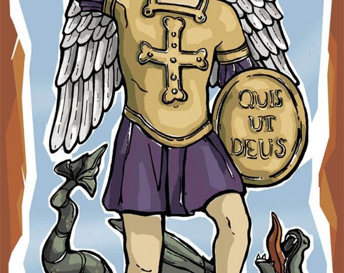 St. Michael Prayer Card