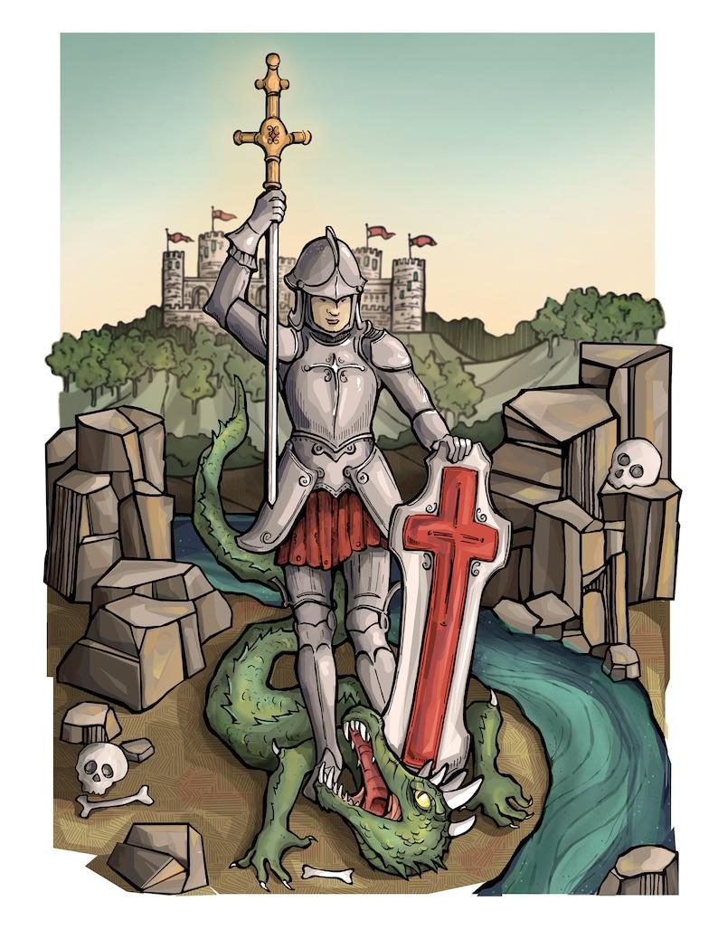 St. George Art Print image 0