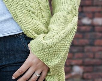 Maize pattern PDF (knit cardigan)