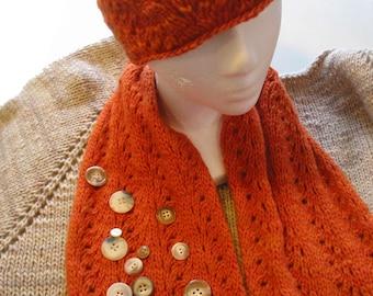 Satomi sweater, hat and scarf pattern set