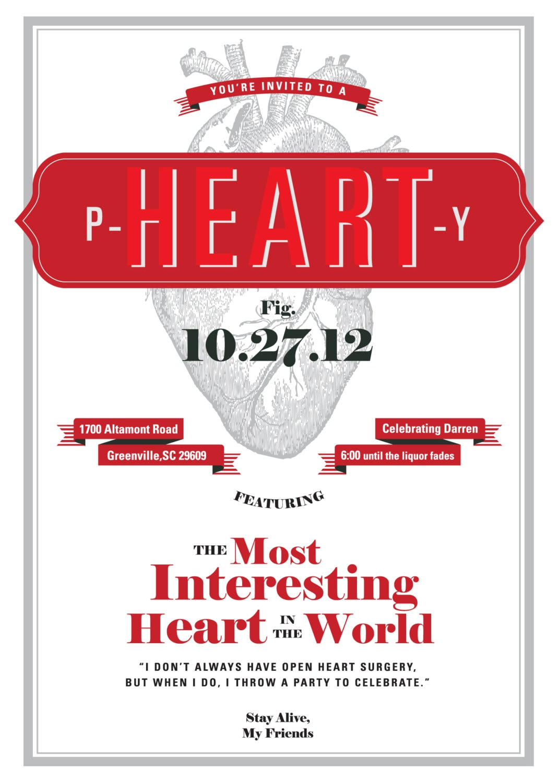 Party Invitation P-HEART-Y   Etsy