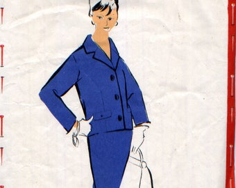 """Vintage """"clutch"""" pattern, tailor, 50s fitted pattern, the Treasurer."""