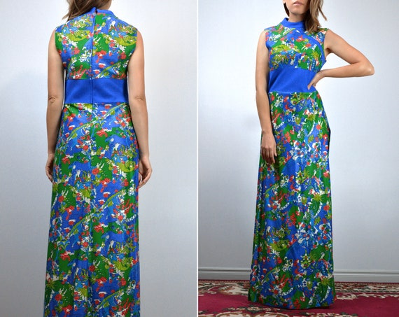 Vintage Two Piece Outfit 70s Retro Japanese Novel… - image 4