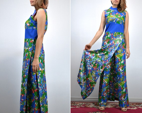 Vintage Two Piece Outfit 70s Retro Japanese Novel… - image 2