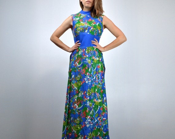 Vintage Two Piece Outfit 70s Retro Japanese Novel… - image 3