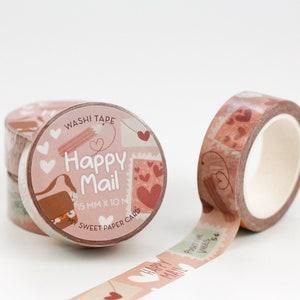 Spring Washi Snail Mail Washi Plantaholics Mail Washi Tape