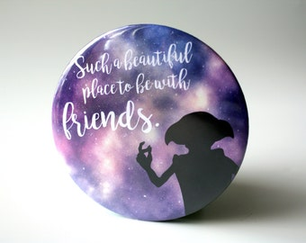 Harry Potter Pocket Mirror - Dobby Quote, Pensieve or Luna Lovegood Quote