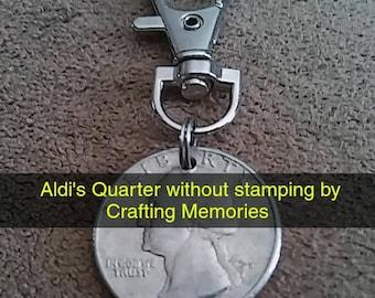 Aldi Quarter Key Chain, Shopping Cart Coin, Aldi's Quarter, Shopping Coin, quarter keeper, keychain, cart quarter, customization available