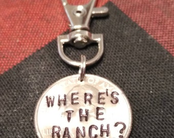 Aldi Nerd Where's The Ranch Quarter Key Chain, Novelty Cart Coin, Aldi's cart Quarter, quarter keeper, keychain, customization available