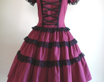 Gothic Lolita Dress In Magenta  New Color Custom Size
