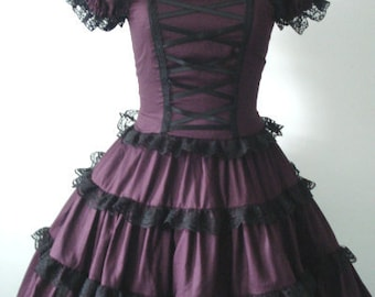 Romantic Gothic Lolita Dress in Wine