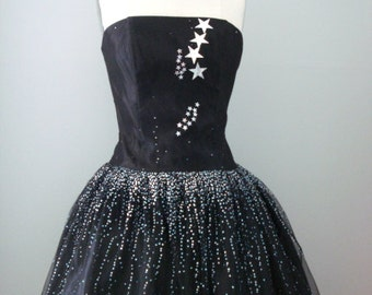 OOAK Star Sprinkled Party Dress