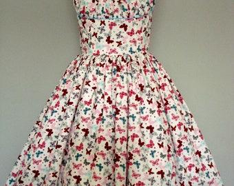 Butterfly Print Summer Dress