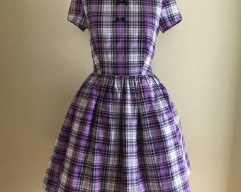 Pretty In Plaid Classic Day Dress