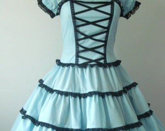 Sweet Lolita Dolly Dress Aqua