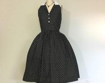Vintage Inspired Halter Dress