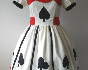 Spades And Clubs Party Dress