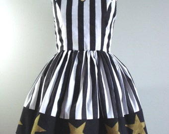 Beetlejuice Inspired Party Dress