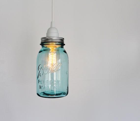 Items Similar To Mason Jar Pendant Lamp