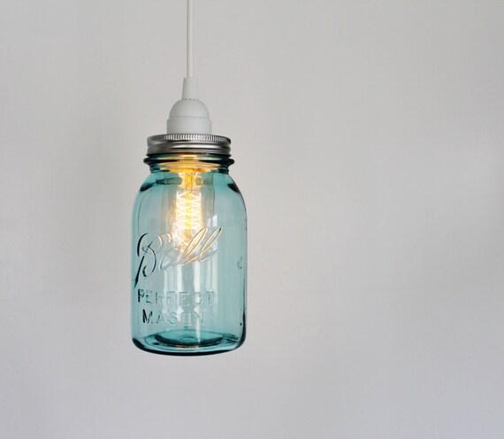 Items Similar To Rustic Light Pendant Lighting Pulley On Etsy: Items Similar To Mason Jar Pendant Lamp