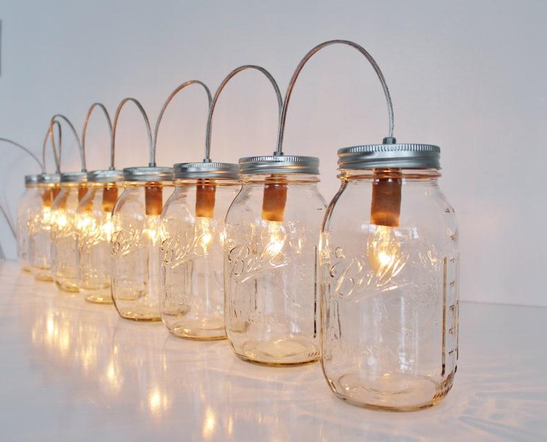 Lampada Barattolo Vetro : Barattolo di vetro lampada apparecchio di illuminazione di etsy