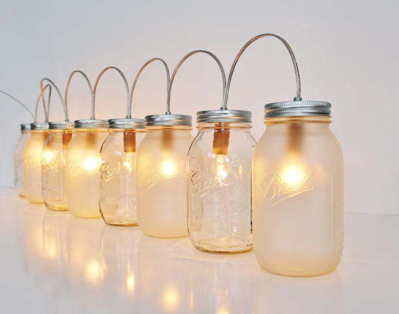 Barattolo di vetro lampada apparecchio di illuminazione di etsy