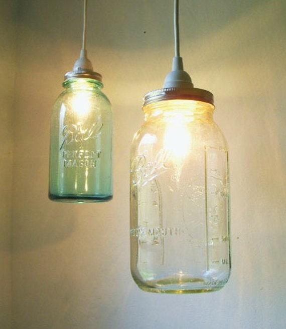 Stargaze Set Of 2 Hanging Mason Jar Pendant Lights By