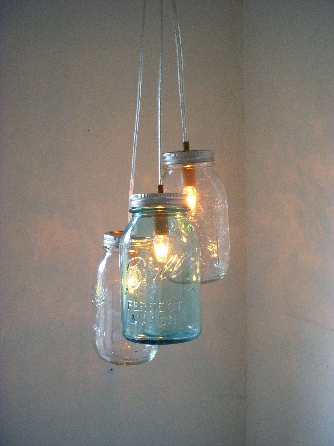 Mason Jar Chandelier Mason Jar Pendant Lighting Fixture 3