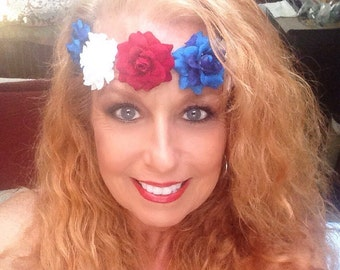 4th of July Flower Crown Headband
