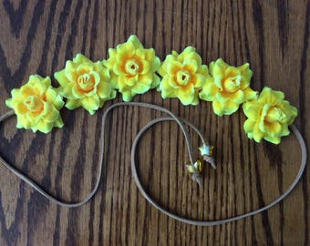 Yellow Flower Headband