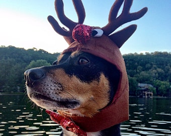 918f53ff16015 Dog Cat Reindeer Costume - Dog Cat Reindeer Antlers cat reindeer hat dog reindeer  hat Rudolph the Red Nosed Reindeer Costume-Hat