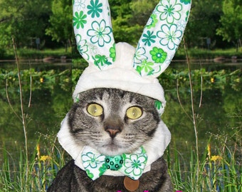 Bunny Ears for Dog-Cat Rabbit Costume Easter Hat