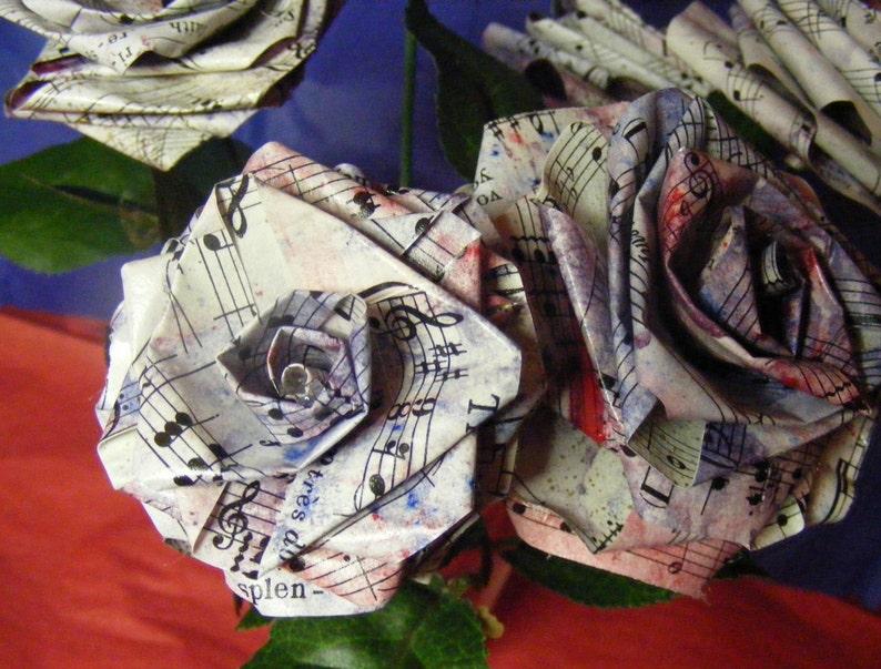 Sheet Music paper roses Petal Paper