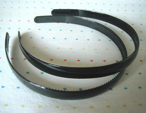 Black Plastic Headbands Headbands in Bulk 1 2 Wide 8  9828b30148a