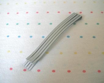 "Silver Hair Pins, Metal Hair Clips, Bobby Pins, Large Sized, 3 1/4"" Long (6)"