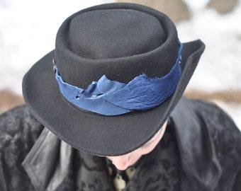 fcebd90ed7e Dark Steampunk Porkpie Hat