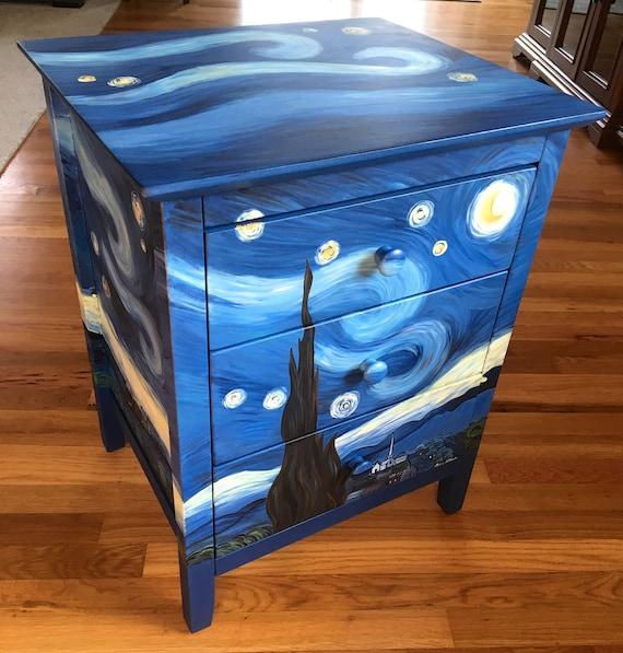 Starry Night Nightstand Vincent Van, Van Gogh Furniture