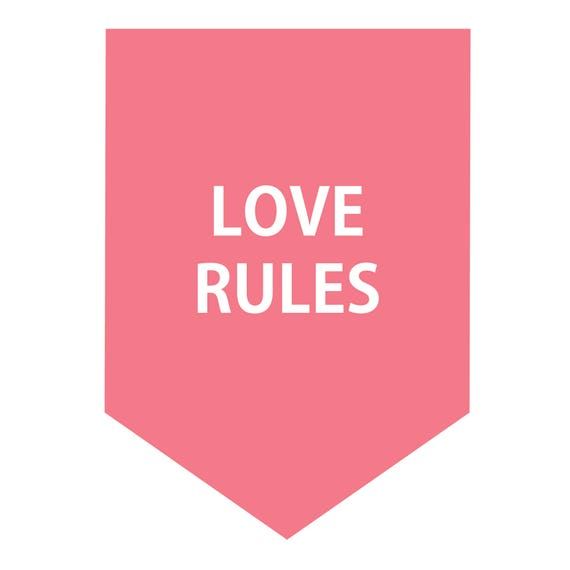 Lover Rules Banner Wall Decal Wall Stiker Quote Sign Pink Etsy