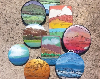 TUTORIAL Layered Landscape Polymer Clay Instant PDF Download