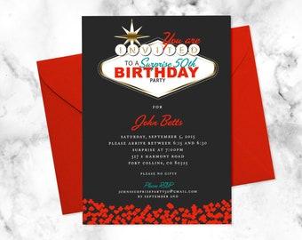 Fabulous Las Vegas Themed Party Invitation 4x6 Or 5x7 Digital File