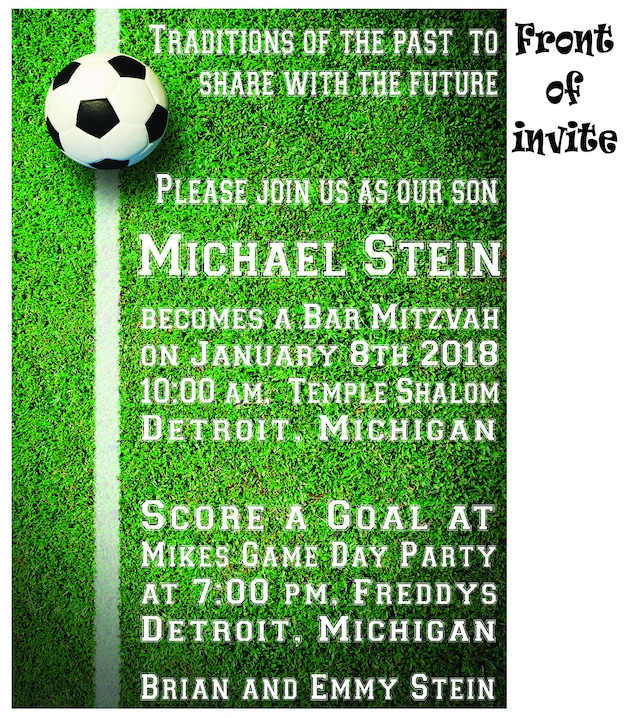 Printable soccer invitation football bar or bat mitzvah etsy image 0 filmwisefo