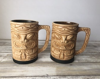 fbd851a20 Vintage Tiki Mugs, Hawaii Kai Handled Mugs