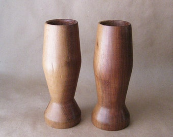 Modern Wooden Candle Holders, Rustic Farmhouse, Solid Wood