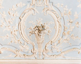 Paris Photograph - Blue and White Details at Versailles, Paris Architecture, Large Wall Art, French Home Decor, Fine Art Photo, Gallery Wall