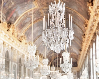 Versailles palace wallpaper hall of mirrors wall mural shabby versailles photography paris home decor hall of mirrors chandeliers french wall decor aloadofball Images