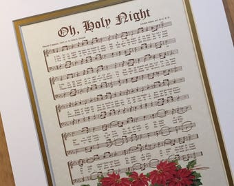 Ivory & Gold Custom Double Mat Including Mounting For Vintage Verses Hymn Wall Art- 11x14 Mat For Sheet Music- 11x14 Mat For Calligraphy Art