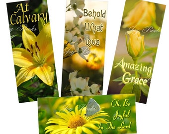 SPRING CELEBRATIONS 4 VintageVerses Hymn Bookmarks DIY Print It Yourself Digital Download Christian Ministry Friendship Greeting Card Insert