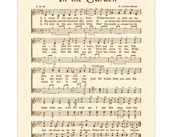 photograph relating to In the Garden Hymn Printable named Within just the backyard garden hymn Etsy