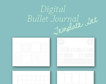 Planner Template Set for Digital Bullet Journal Planner