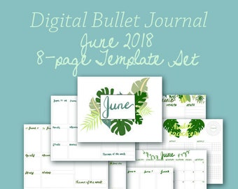 June Planner Template Pages - Instant Download